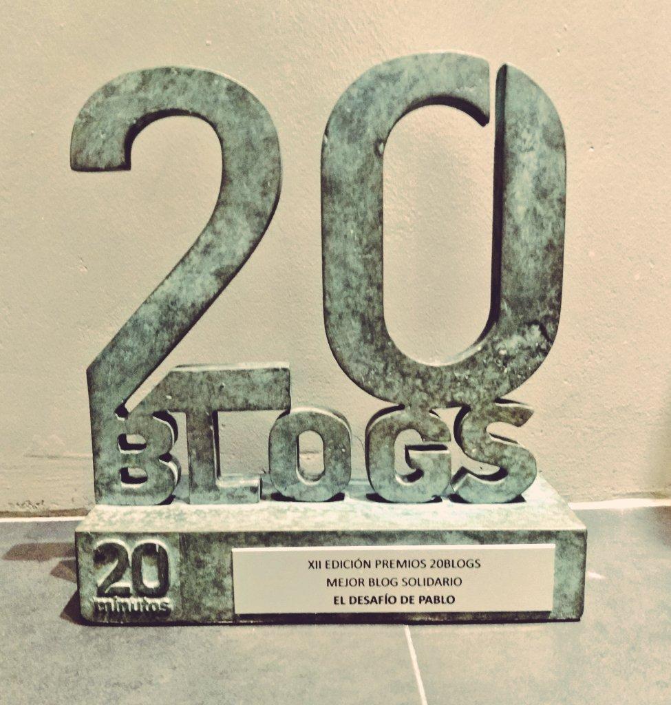 Imagen del trofeo 20Blogs